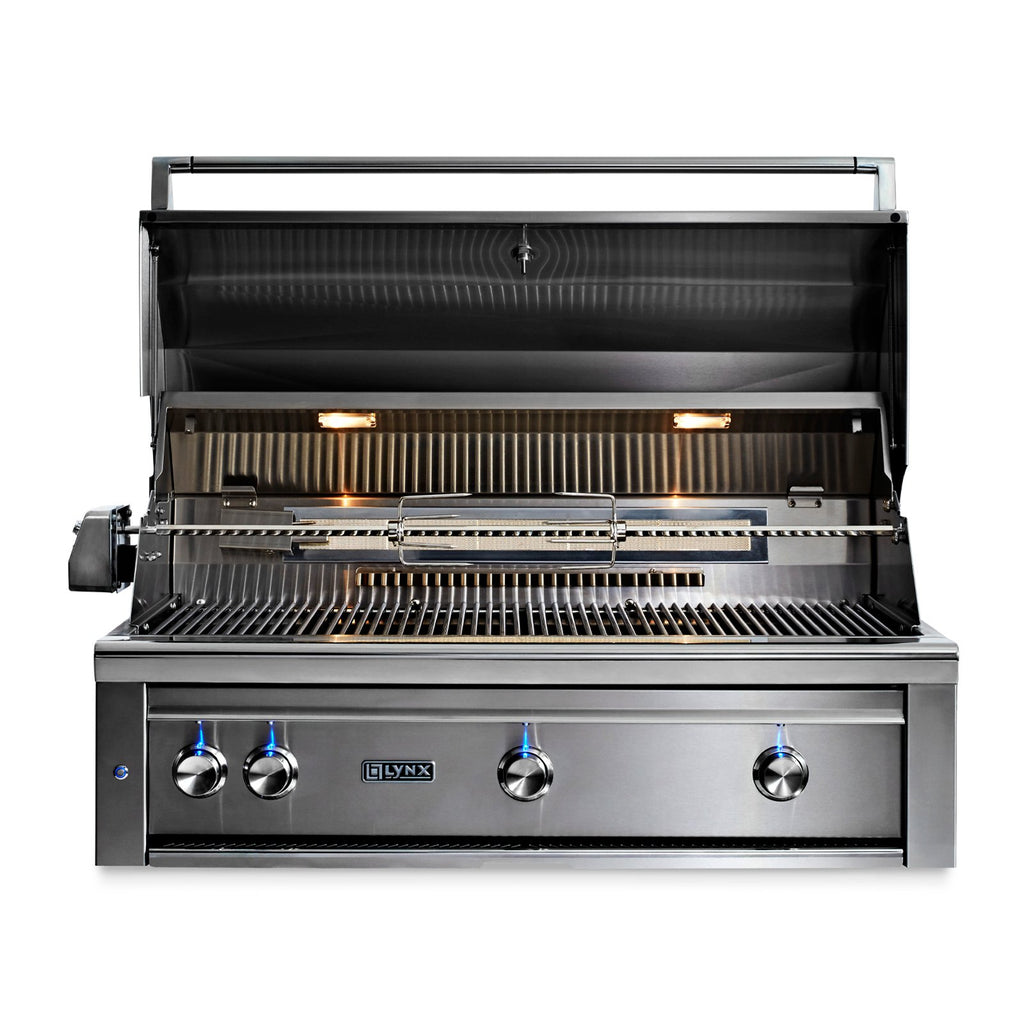 Lynx Professional 42-Inch Propane Gas Built-In Grill  - All Trident w/ Rotisserie - L42ATR-LP