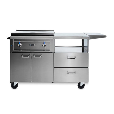 Lynx Professional 30-Inch Natural Gas Asado Grill on Mobile Kitchen Cart - L30AG-M-NG