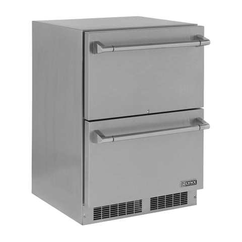 Lynx Professional 24-Inch Built-In Refrigerated Drawers - LM24DWR