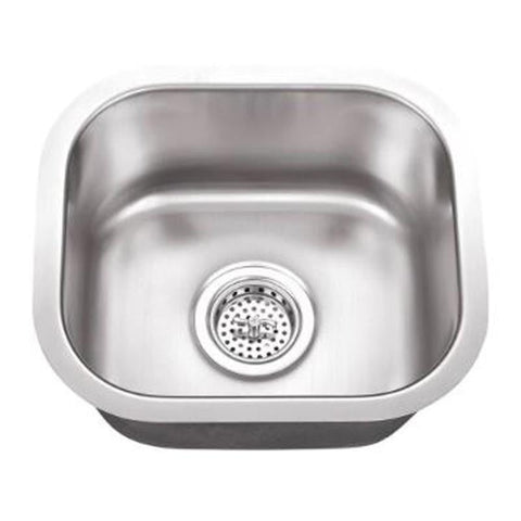 E2 Stainless 18 Gauge 15x12x7 Stainless Steel Rectangular Sink - M1512-18