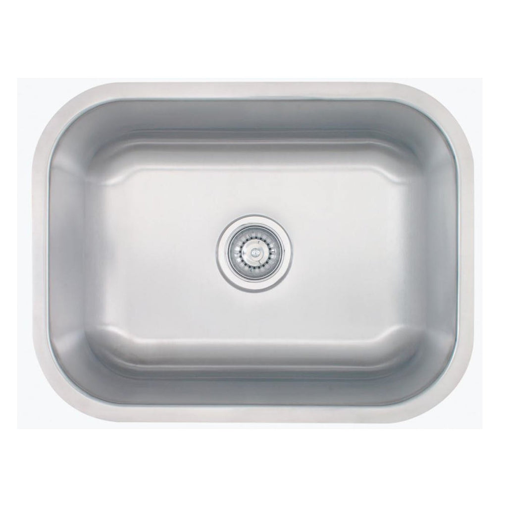 E2 Stainless 18 Gauge 23x18x9 Stainless Steel Rectangular Sink - M2318-18