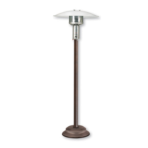 Patio Comfort Natural Gas Portable Patio Heater w/ Push Button Ignition: Includes 12-Inch Steel Hose Kit with 2 Quick Disconnects and Shut Off Valve (Antique Bronze) - NPC05 AB