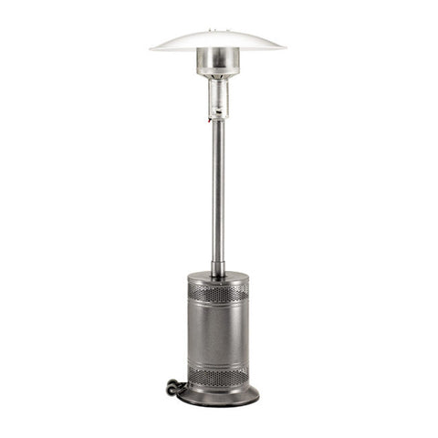 Patio Comfort Propane Gas Patio Heater w/ Push Button Ignition (Jet/Silver Vien) - PC02J