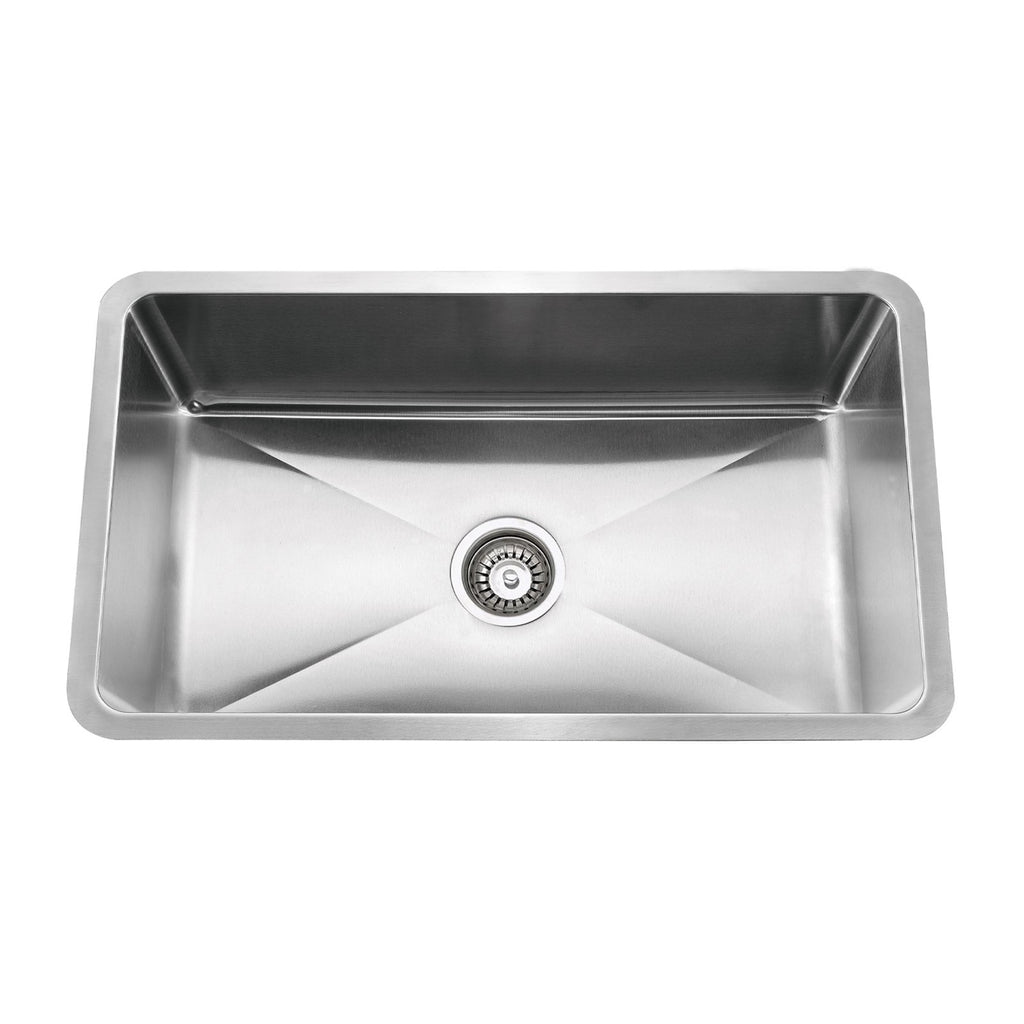 E2 Stainless 16 Gauge 18x15x7 Stainless Steel Rectangular Sink w/ Small Corner Radius - SRS-1815