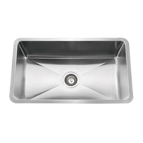 E2 Stainless 16 Gauge 30x18x9 Stainless Steel Rectangular Sink w/ Small Corner Radius - SRS-3018