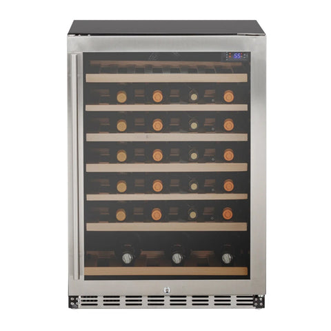Summerset 24-Inch Outdoor Rated Dual Zone Wine Cooler w/ Door Lock - SSRFR-24WD