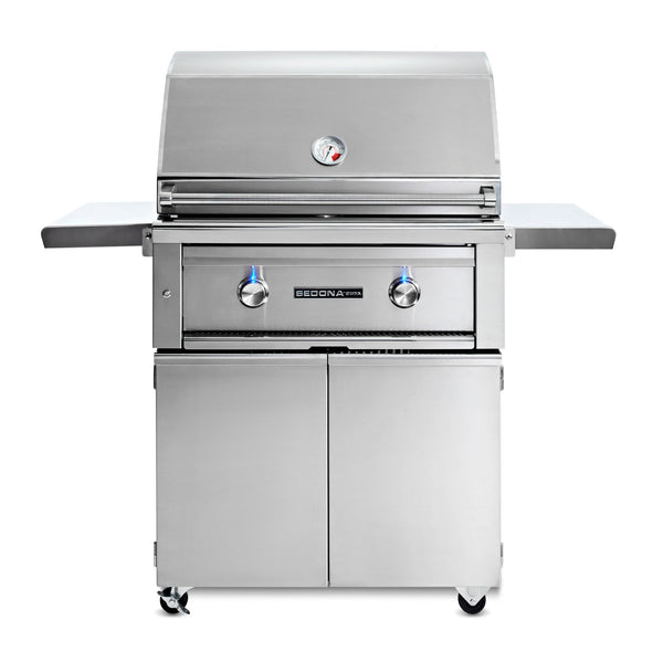 Sedona by Lynx 30-Inch Propane Gas Freestanding Grill - 1 Stainless Steel Burner and 1 ProSear Burner - L500PSF-LP