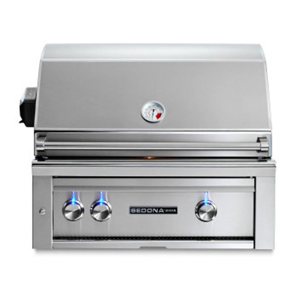 Sedona by Lynx 30-Inch Natural Gas Built-In Grill - 2 Stainless Steel Burners, w/ Rotisserie - L500R-NG