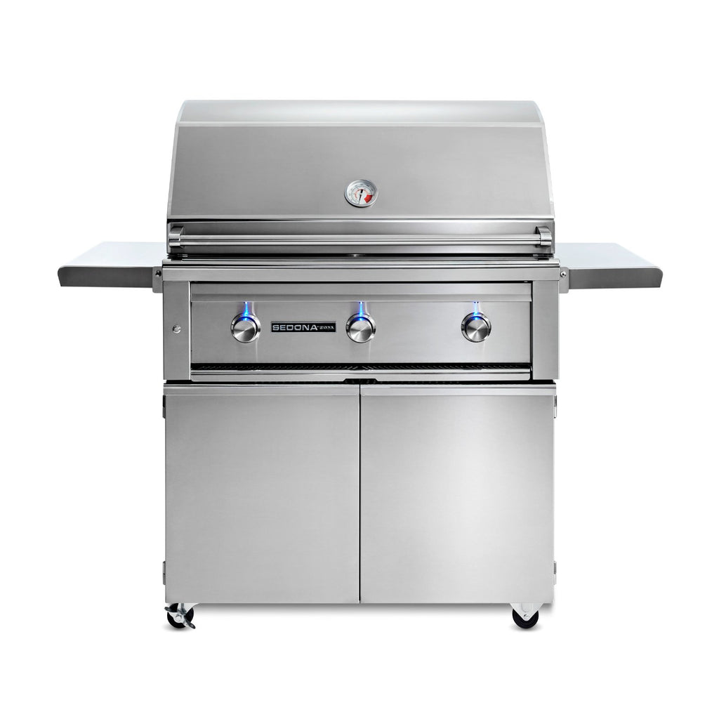Sedona by Lynx 36-Inch Natural Gas Freestanding Grill - 3 Stainless Steel Burners - L600F-NG