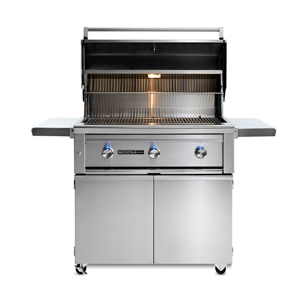 Sedona by Lynx 36-Inch Natural Gas Freestanding Grill - 2 Stainless Steel Burners and 1 ProSear Burner - L600PSF-NG
