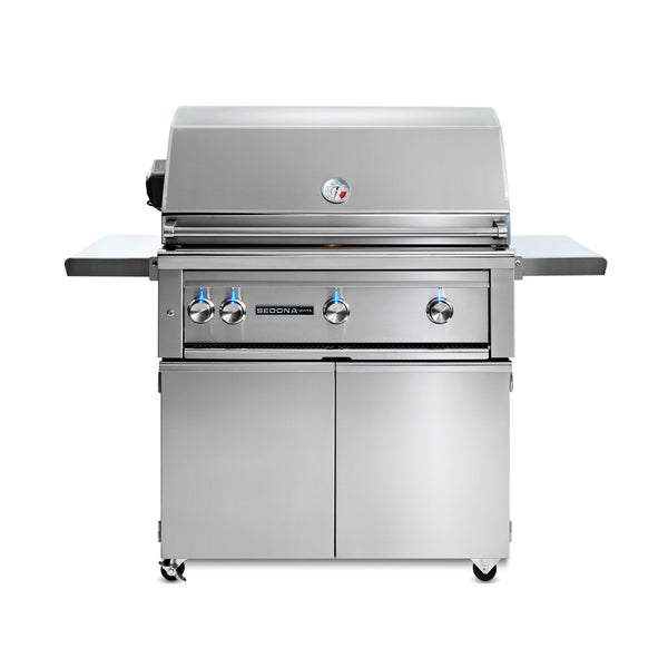 Sedona by Lynx 36-Inch Natural Gas Freestanding Grill - 3 Stainless Steel Burners w/ Rotisserie - L600FR-NG