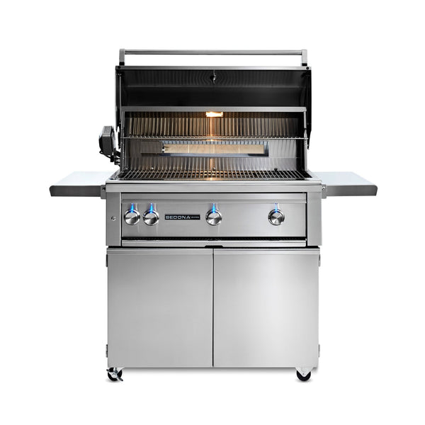 Sedona by Lynx 36-Inch Propane Gas Freestanding Grill - 3 Stainless Steel Burners w/ Rotisserie - L600FR-LP