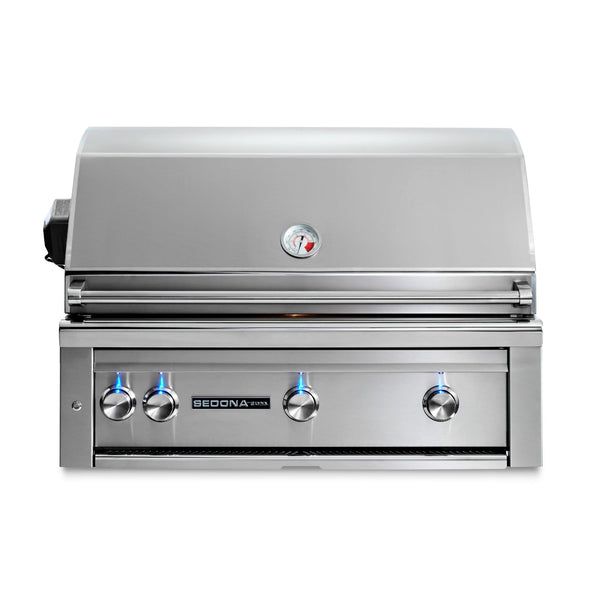 Sedona by Lynx 36-Inch Natural Gas Built-In Grill - 2 Stainless Steel Burners and 1 ProSear Burner, w/ Rotisserie - L600PSR-NG