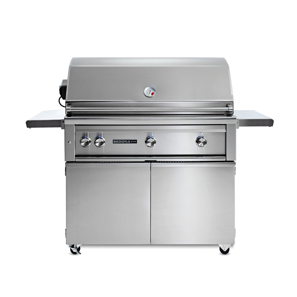 Sedona by Lynx 42-Inch Propane Gas Freestanding Grill - 3 Stainless Steel Burners, w/ Rotisserie - L700FR-LP
