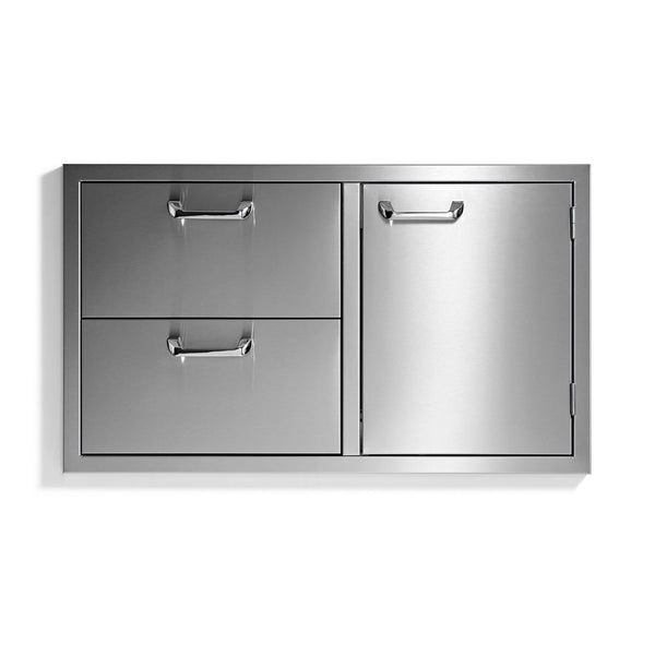 Sedona by Lynx 36-Inch Storage Door and Double Drawer Combo - LSA636