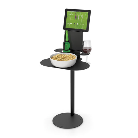 SideBar Single Table w/ Tablet Holder Attachment - SideBar-1-1TH-B