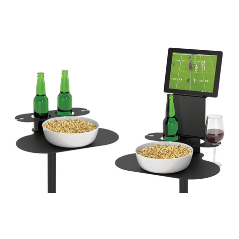 SideBar Table Bundle, Two Pack of Tables w/ Single Tablet Holder - SideBar-2-1TH-B