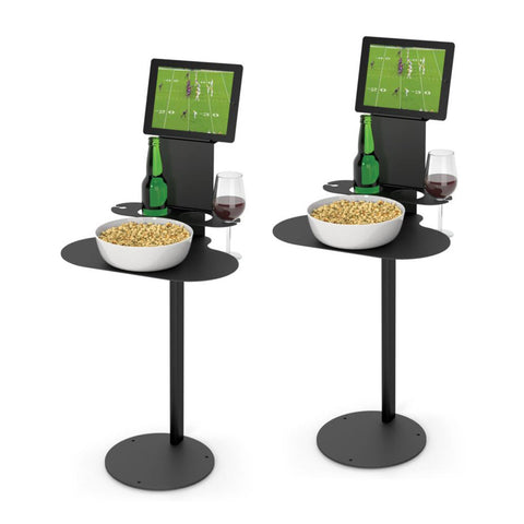 SideBar Table Bundle, Two Pack of Tables w/ Two Tablet Holders - SideBar-2-2TH-B
