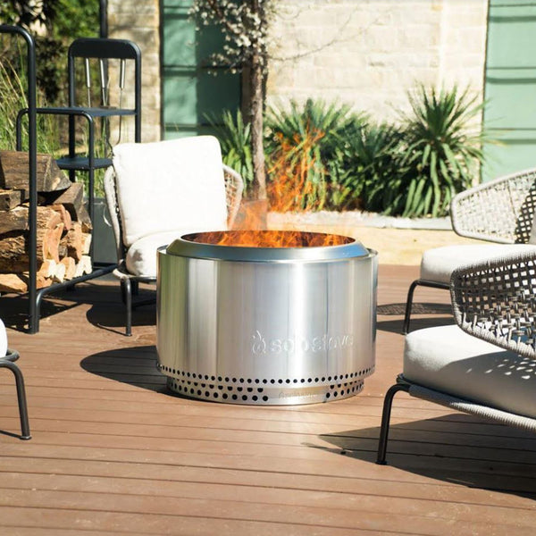 Solo Stove Yukon 27-Inch Portable Low Smoke Wood Burning Firepit w/ Stainless Steel Stand- SSYUK-SD
