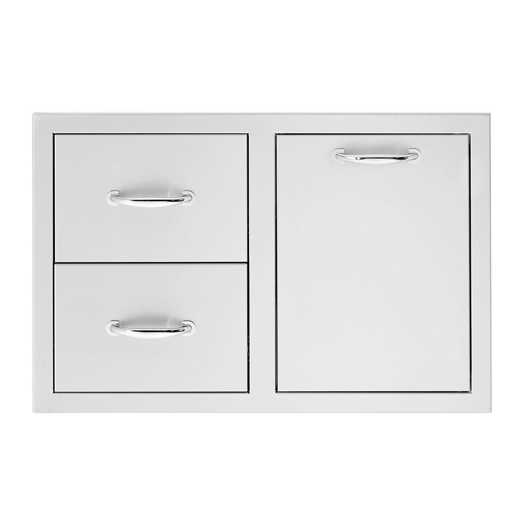 Summerset 33-Inch North American Stainless Steel 2-Drawer and Vented LP Tank Pullout Drawer Combo - SSDC2-33LP