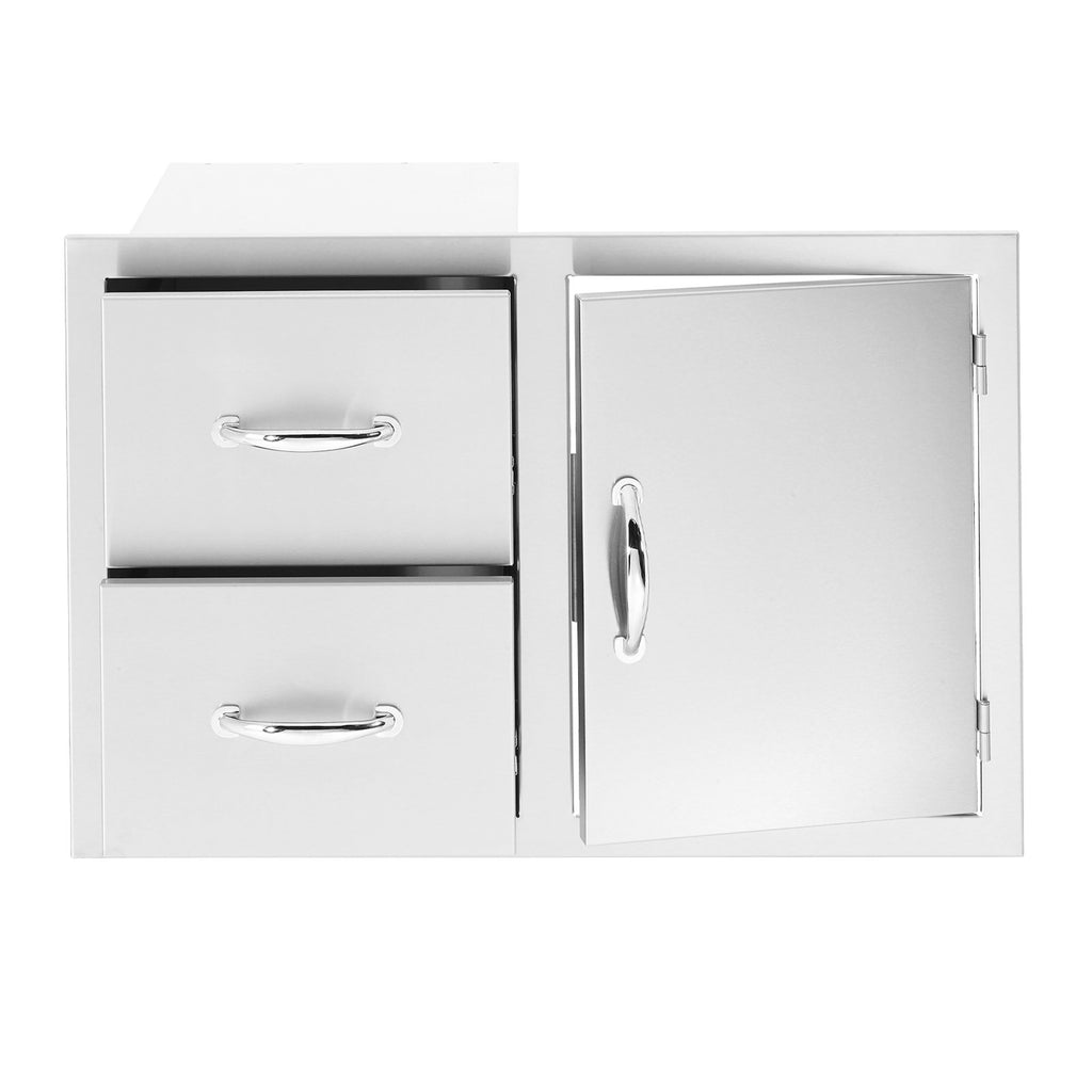 Summerset 36-Inch North American Stainless Steel 2-Drawer and Access Door Combo - SSDC2-36
