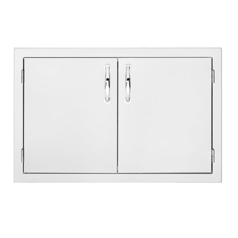 Summerset 33-Inch North American Stainless Steel Double Access Door w/ Masonry Frame Return - SSDD-33M