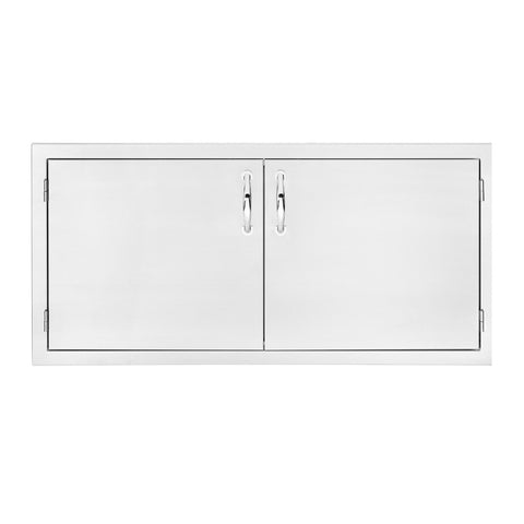 Summerset 45-Inch North American Stainless Steel Double Access Door w/ Masonry Frame Return - SSDD-45M
