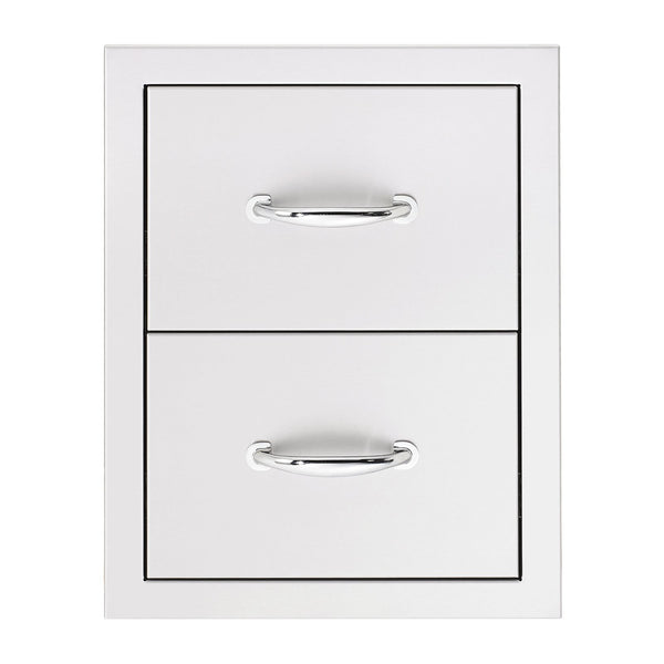 Summerset 17-Inch North American Stainless Steel Double Drawer - SSDR2-17