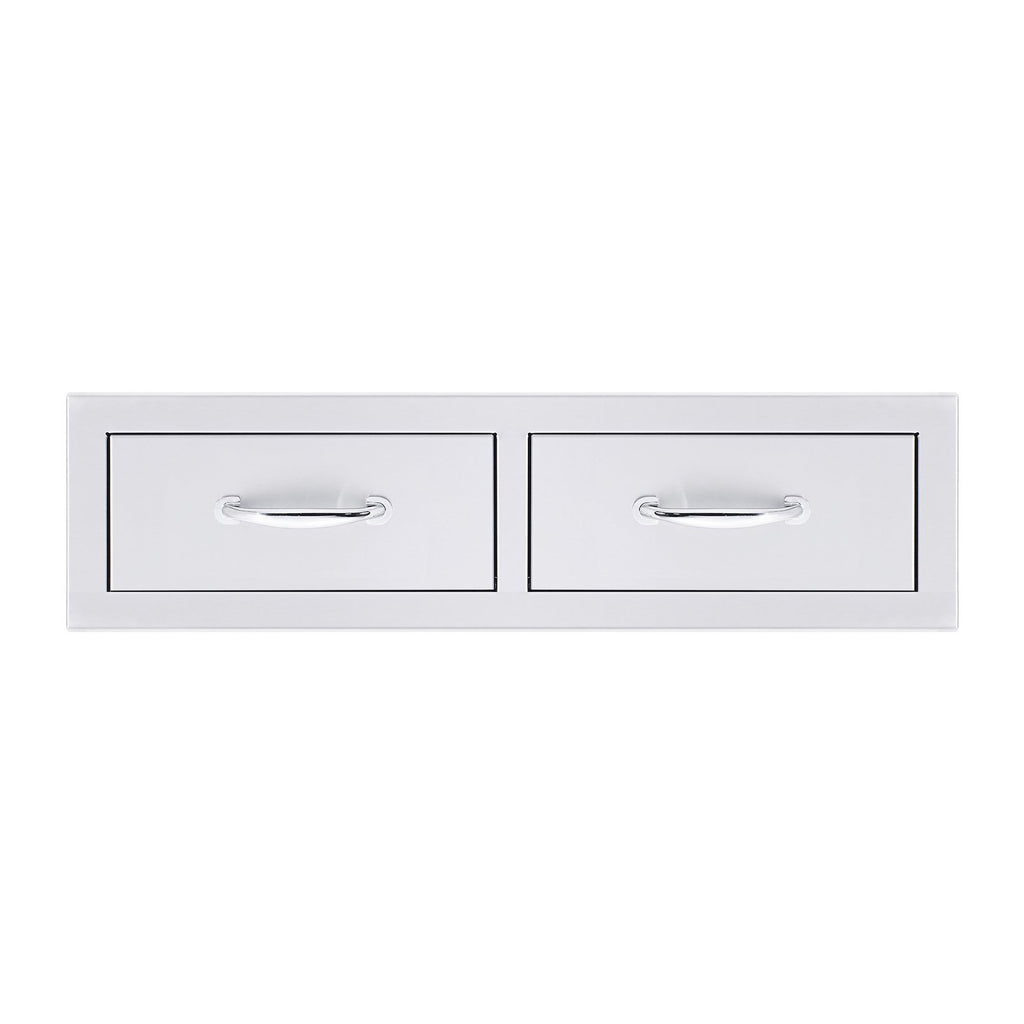 Summerset 32-Inch North American Stainless Steel Double Horizontal Drawer - SSDR2-32H