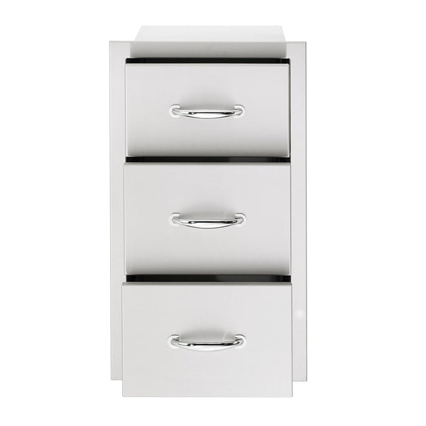 Summerset 17-Inch North American Stainless Steel Triple Drawer - SSDR3-17