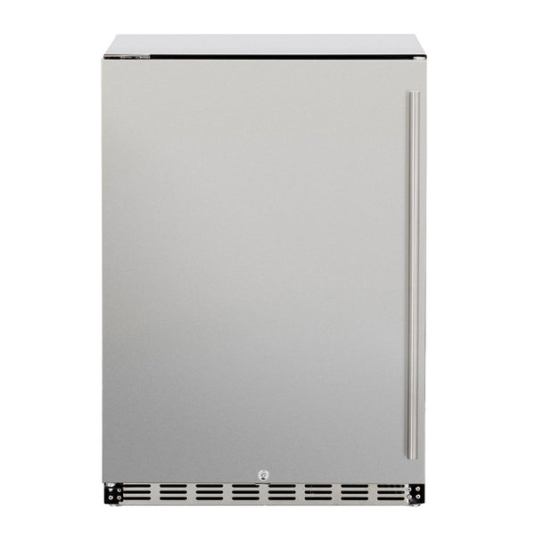 Summerset 24-Inch 5.3c Deluxe Outdoor Rated Refrigerator (Left Hinge) - SSRFR-24D-R