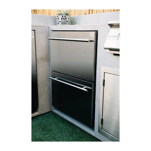 Summerset 24-Inch 5.3c Deluxe Outdoor Rated 2-Drawer Refrigerator - SSRFR-24DR2