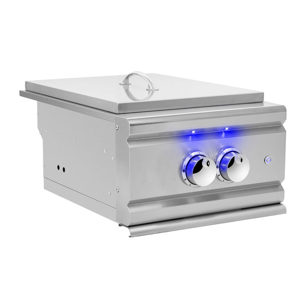 Summerset TRL Propane Gas Built-In Power Burner w/ LED Illumination and Removable Lid - TRLPB2-LP