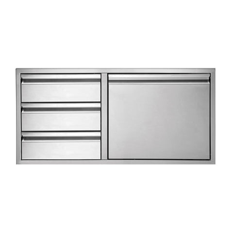 Twin Eagles 36-Inch Three Drawer Door Combo - TEDD363-B