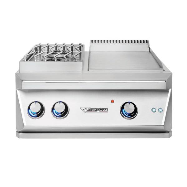 Twin Eagles 30-Inch Natural Gas Built-In Breakfast Club Double Side Burner w/ Griddle  - TEBC30-CN