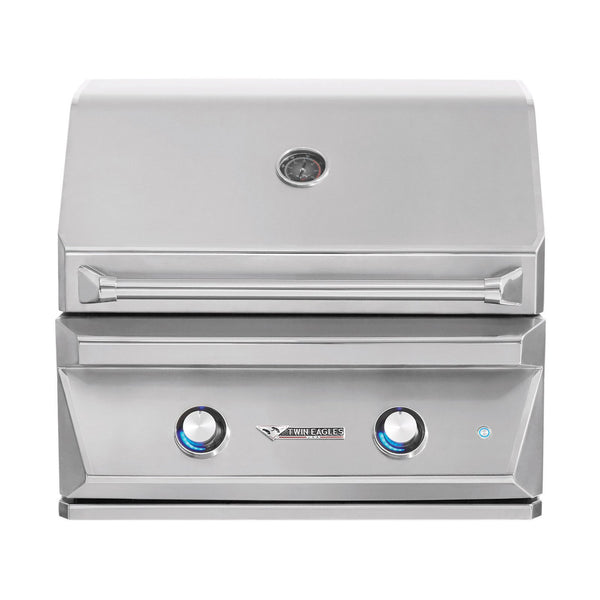 Twin Eagles 30-Inch Propane Gas Built-In Grill w/ Infrared Rotisserie and Sear Zone - TEBQ30RS-CL