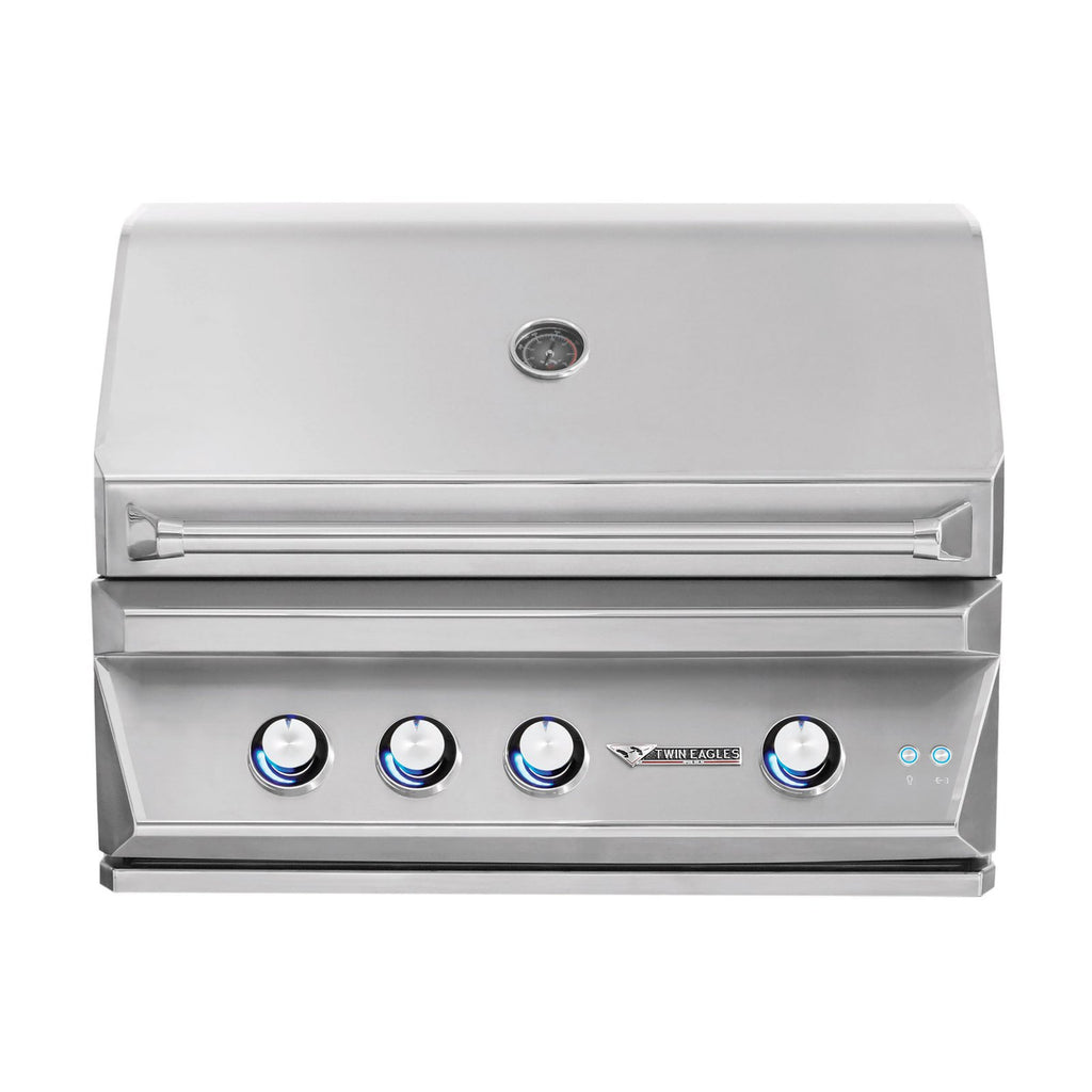 Twin Eagles 36-Inch Propane Gas Built-In Grill w/ Infrared Rotisserie - TEBQ36R-CL