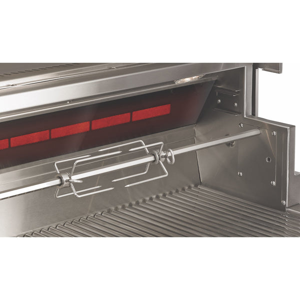 Twin Eagles 54-Inch Natural Gas Built-In Eagle One Super Premium Grill w/ Black Glass Infrared Rotisserie Burner and Sear Zone - TE1BQ54RS-N
