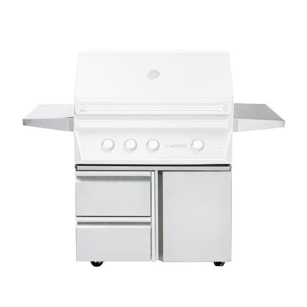 Twin Eagles 36-Inch Grill Base w/ Storage Drawers, Single Door - TEGB36SD-B