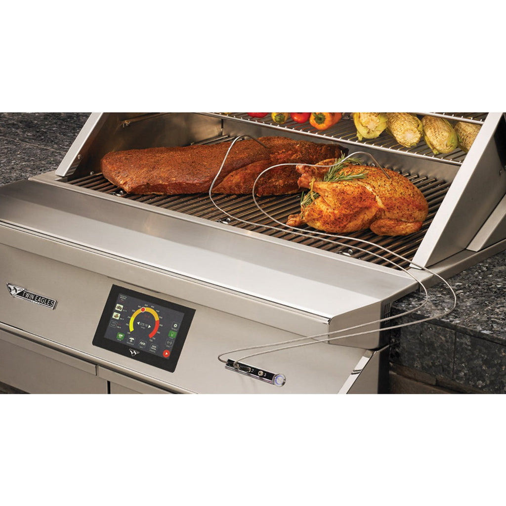 Twin Eagles 36-Inch Built-In Pellet Grill and Smoker w/ Wi-Fi Controller - TEPG36G