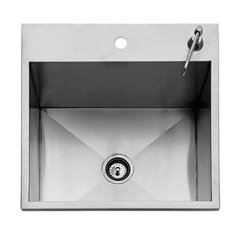 Twin Eagles 24-Inch Outdoor Sink with Stainless Steel Cover (Faucet Not Included) - TEOS24-B