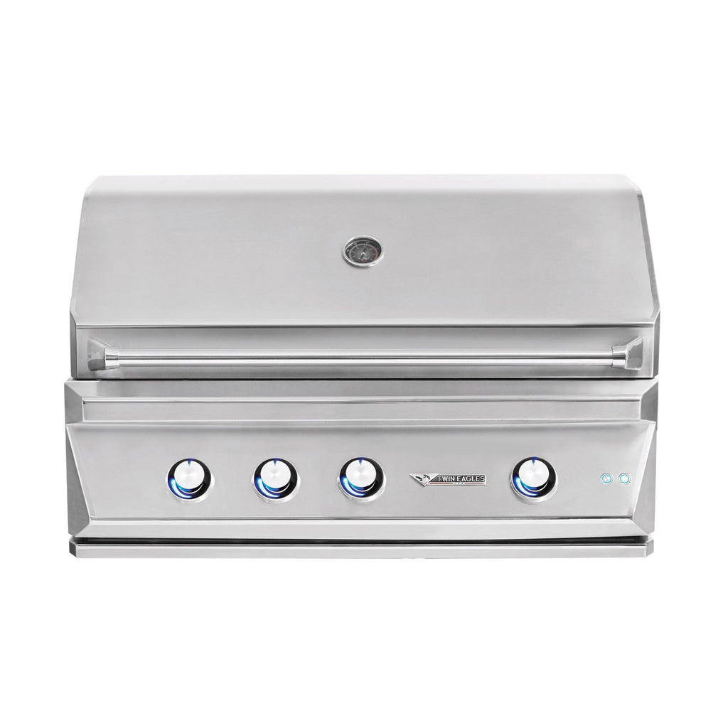Twin Eagles 42-Inch Natural Gas Built-In Grill w/ Infrared Rotisserie and Sear Zone - TEBQ42RS-CN