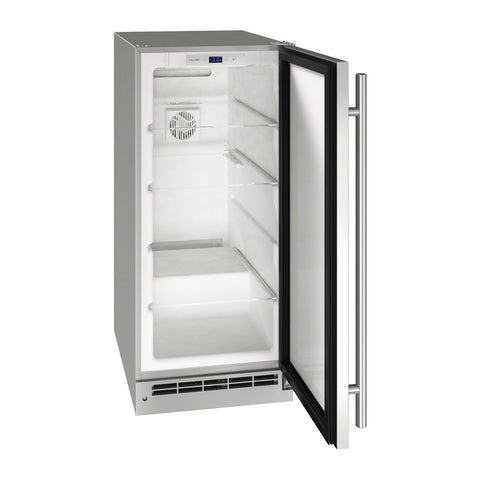 U-Line 15-Inch Stainless Steel Outdoor Refrigerator w/ Reversible Hinge and Lock - UORE115-SS31A