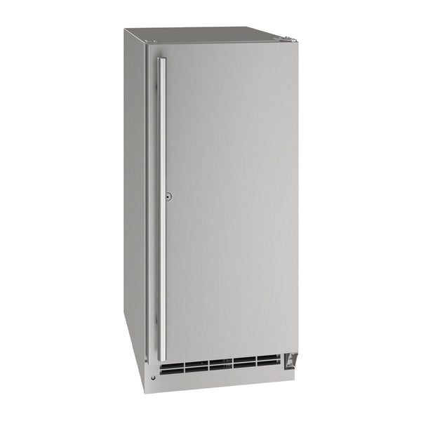 U-Line 15-Inch Stainless Steel Outdoor Refrigerator w/ Reversible Hinge and Door Lock - UORE115-SS01A