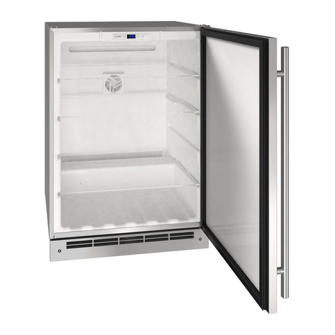 U-Line 24-Inch Stainless Steel Outdoor Refrigerator w/ Reversible Hinge - UORE124-SS01A