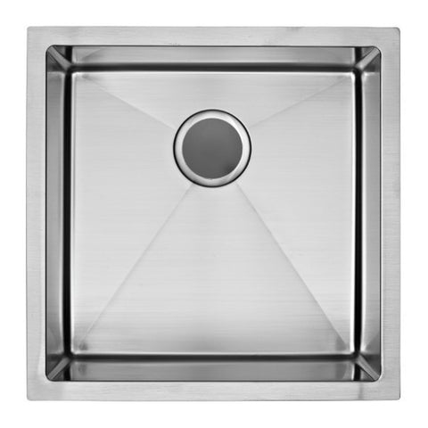 E2 Stainless 16 Gauge 19x19x10 Stainless Steel Rectangular Sink w/ Very Small Corner Radius - VSR-1919