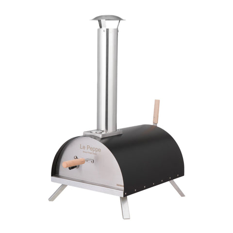 WPPO Le Peppe Portable Wood Fired Pizza Oven in Black - WKE-01BLCK