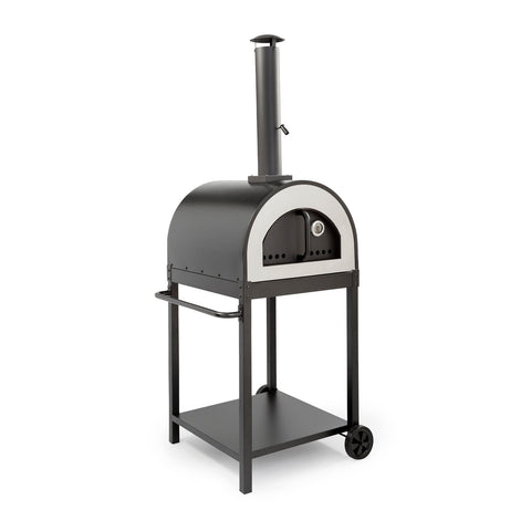 WPPO Traditional 25-Inch Wood Fired Pizza Oven w/ Black Stand - WKE-04BLK