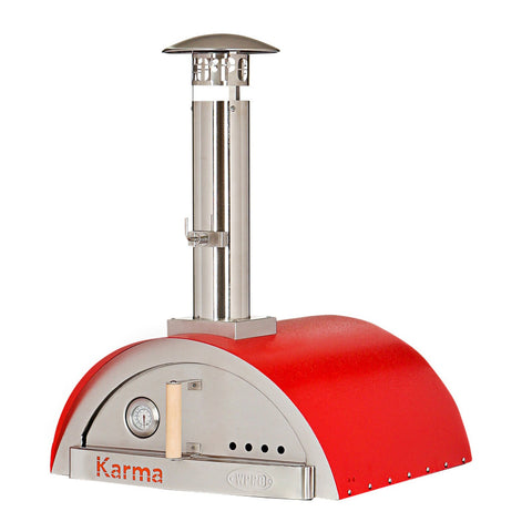 WPPO Karma 25-Inch Stainless Steel Wood Fired Pizza Oven in Red - WKK-01-Red