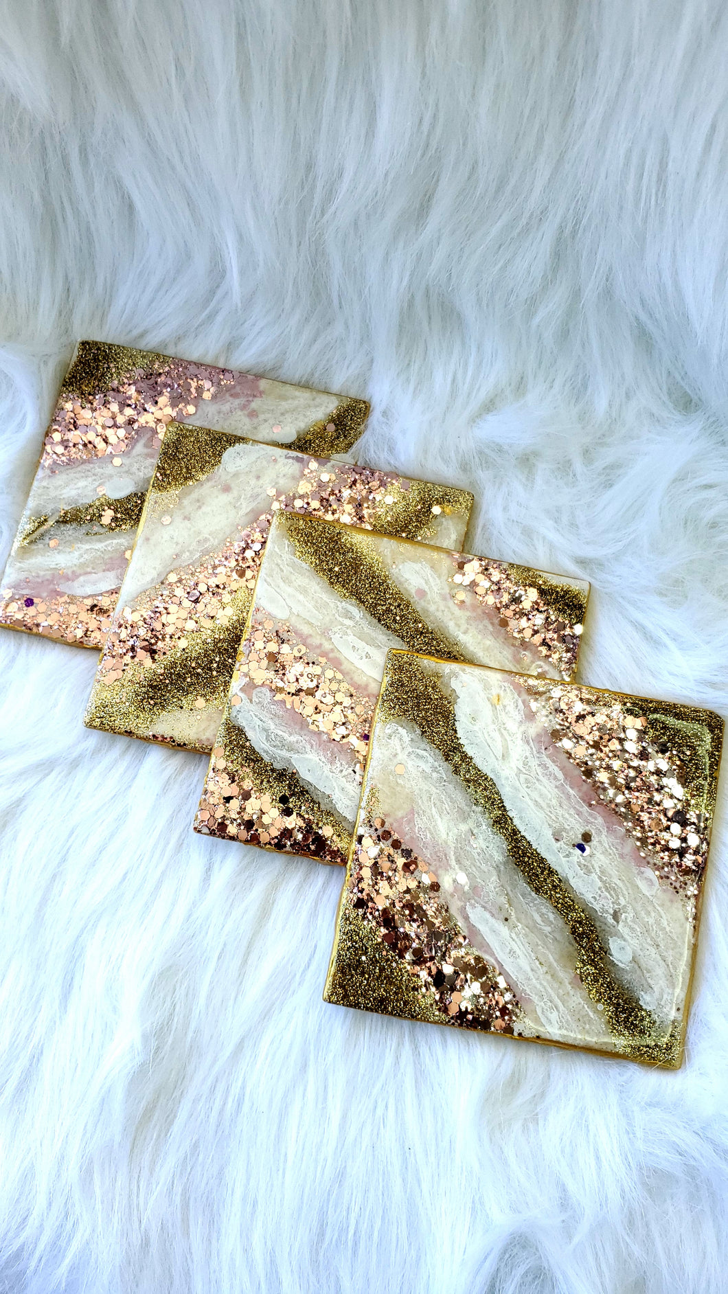 Rose Gold Ceramic Coasters